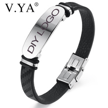 Bracelet Jewelry-Making Silver-Color Men High-Quality Bangle Chain Lettering Stainless-Steel