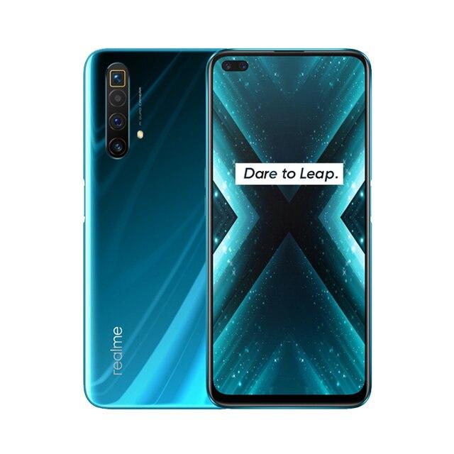 Realme X3  NFC Cellphone 8GB RAM 128GB ROM  6.6 '' Snapdragon 855+ 64MP Quad Rear 60X Super Zoom Camera 4200mAh Mobile Phone 6