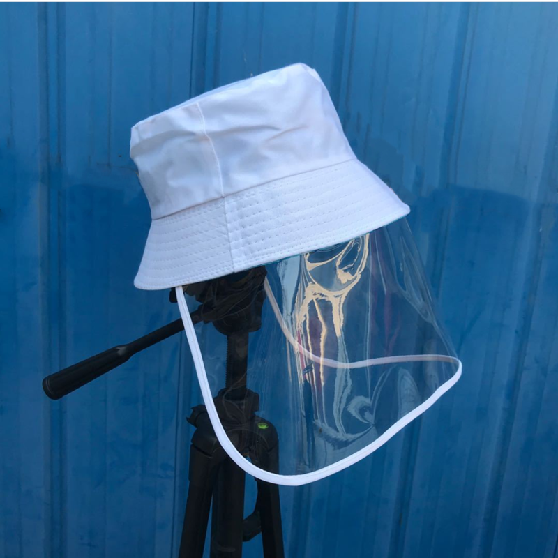 Unisex Fisherman Hat Protection Bonnet Anti-fog Removable Dust Mask Eye Protection Face Cover Caps Fishing Bucket Cap Sun Hats