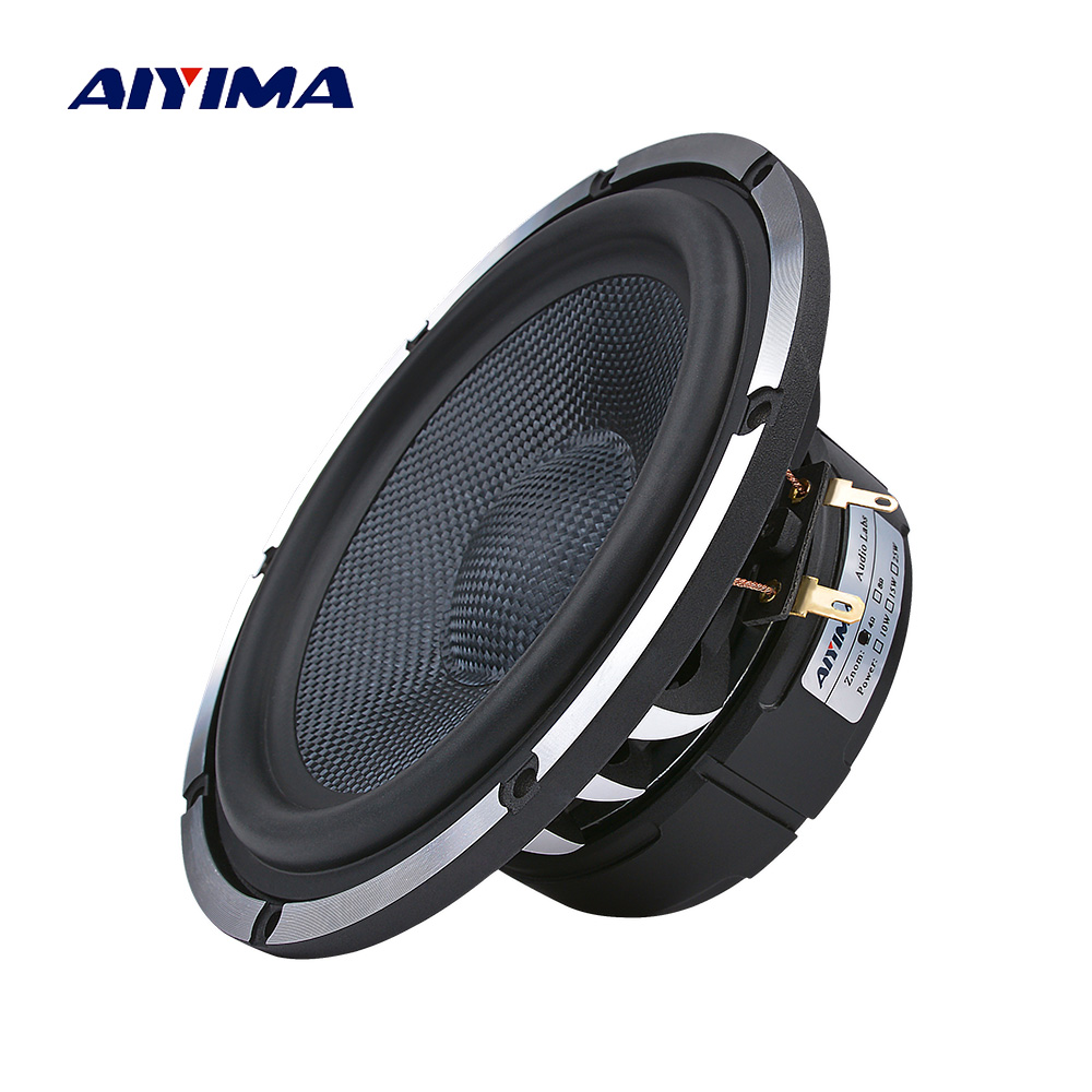 AIYIMA 1PCS Aluminum Basin 6.5 Inch Car Horn Audio Midrange Bass Speakers 8 Ohm 80 W Woofer Home Theater Frame Loudspeaker