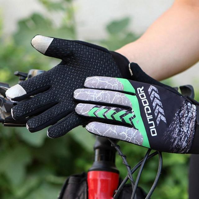 Dedo cheio luvas de ciclismo à prova de choque resistente ao desgaste da bicicleta mtb respirável antiderrapante luvas da motocicleta guantes mtb enduro 6