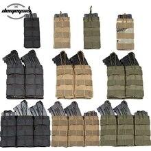 1000D нейлоновая Одиночная/двойная/Тройная сумка для магазинов, Тактическая Военная Сумка M4, мягкая сумка для пейнтбола, страйкбола, сумка для...