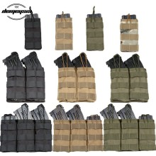Pochette militaire tactique de magazines,possède une matière nylon 1000D, équipement Airsoft, poche M4, utilisable au Paintball, disponible en simple/double/triple,