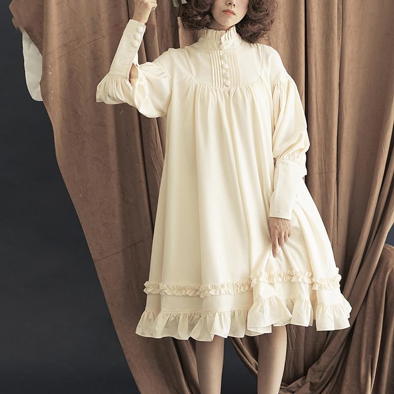 Женские платья в готическом стиле Лолита, 5 цветов, японские мягкие черные хлопковые платья принцессы для девочек, костюм на Хэллоуин|Платья| | АлиЭкспресс