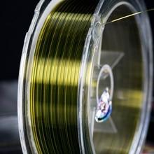 100 Meters Fishing Line High Cut Water Nylon Fluorescent Yellow Gear 0.4#-8#
