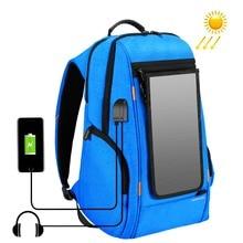 Puluz ao ar livre multi-função de energia do painel solar confortável respirável casual mochila portátil saco para 3c/câmera acessórios