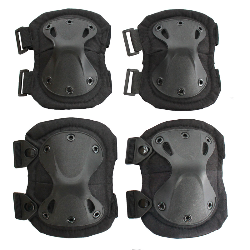 Tactical Knee Protector Paintball Airsoft Hunting War Game Knee Elbow Protector Outdoor Military Army Knee Pads & Elbow Pads Set