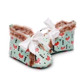 Winter Baby Girls Boys Snow Boots Newborn Infant PU Shoes Warm First Walkers Anti-Slip Cartoon Booties Toddler Soft Soled Shoes fashion baby shoes newborn girls boys warm rainbow snow boots toddler first walkers infant sweet soft sole prewalker crib shoes