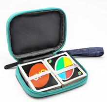 Do przenoszenia podróży UNO Case kompatybilny gra w karty pakiet kart etui na klucze produkt cyfrowy, przewód słuchawek worek do przechowywania (bez karty)