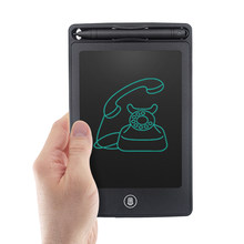 LCD Writing Tablet 6.5 inch Digital Drawing Electronic Handwriting Pad Message Graphics Board Kids Writing Board Lock key(China)