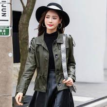 Для женщин размера плюс куртка пальто 2021 осень из искусственной