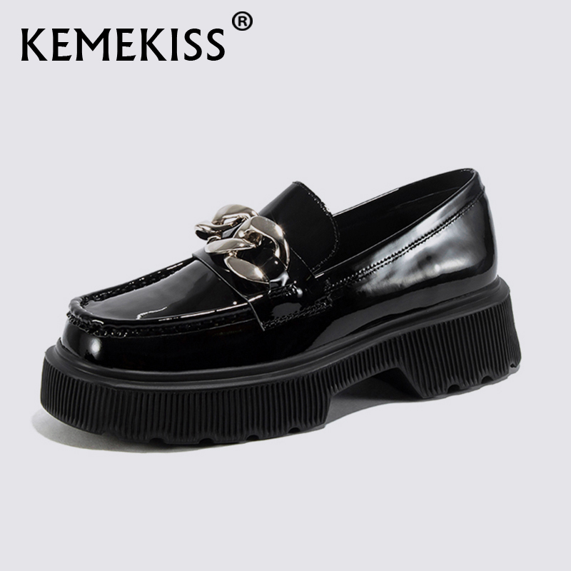 KemeKiss Size 34 42 Women Pumps Real Leather Fashion Spring High platform Thick Heel Shoes Woman Retro Office Lady Footwear