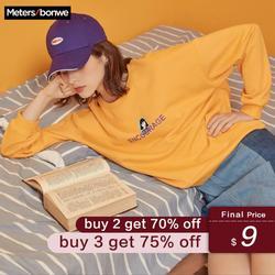 Metersbonwe  New Spring Sweatshirt Women printing Casual O-Neck Sweatshirt Loose Pullover women fashion Leisure Pop Tops