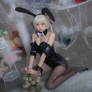Image 4 - Anime Bunny Cosplay Kostuums Leuke Sexy Lingerie Bunny Pak voor Vrouwen Zwarte PU Lederen Pak Jumpsuits Sexy Halloween Kostuums