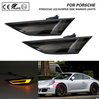 For PORSCHE 991 Carrera S 4 4S GTS GT3 Boxster Cayman 718 Boxster smoke lens LED Front Side Marker Lights turn signal lamp 2X