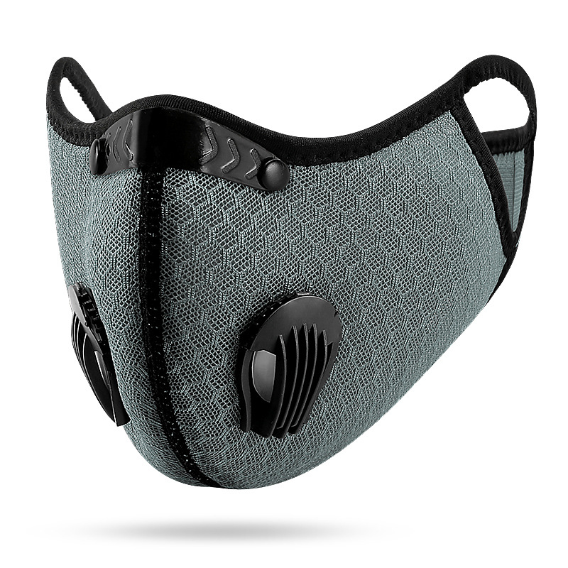 Mesh Dust/gas Mask With Dust Cover, Cycling Mask Outdoor Smog Protection For Men And Women Adjustable Respirator Mask
