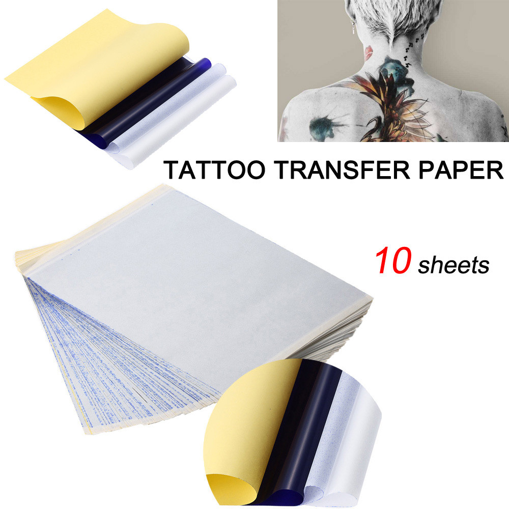 Tattoo Transfer Paper Temporary Tattoos Stencil Carbon Thermal Tracing Hectograph Sheet Tattoo Accessories  #Zer