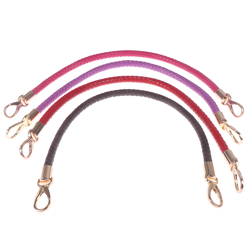 1pcs Alloy Metal Hook Buckle PU Leather Braided Rope Handles For Handbag Shoulder Bag Strap Handmade Bag DIY Accessories