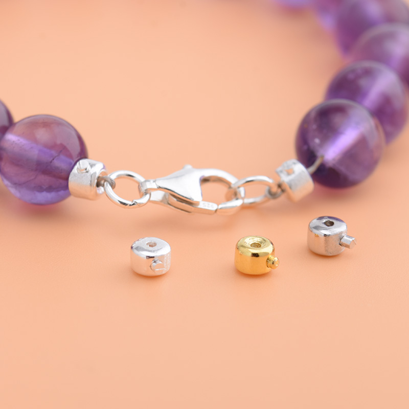 S925 Sterling Silver End Buckle Positioning Beads, Handmade DIY Bracelet Necklace Material Accessories