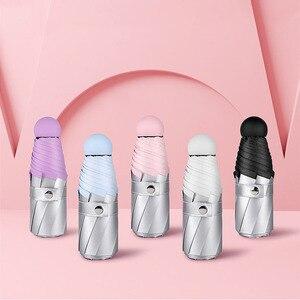 Image 3 - Мини карманный зонтик для женщин Титан серебряный Клей УФ маленькие Зонты Дождь для женщин водонепроницаемый для мужчин Защита от солнца удобно для девочек путешествия