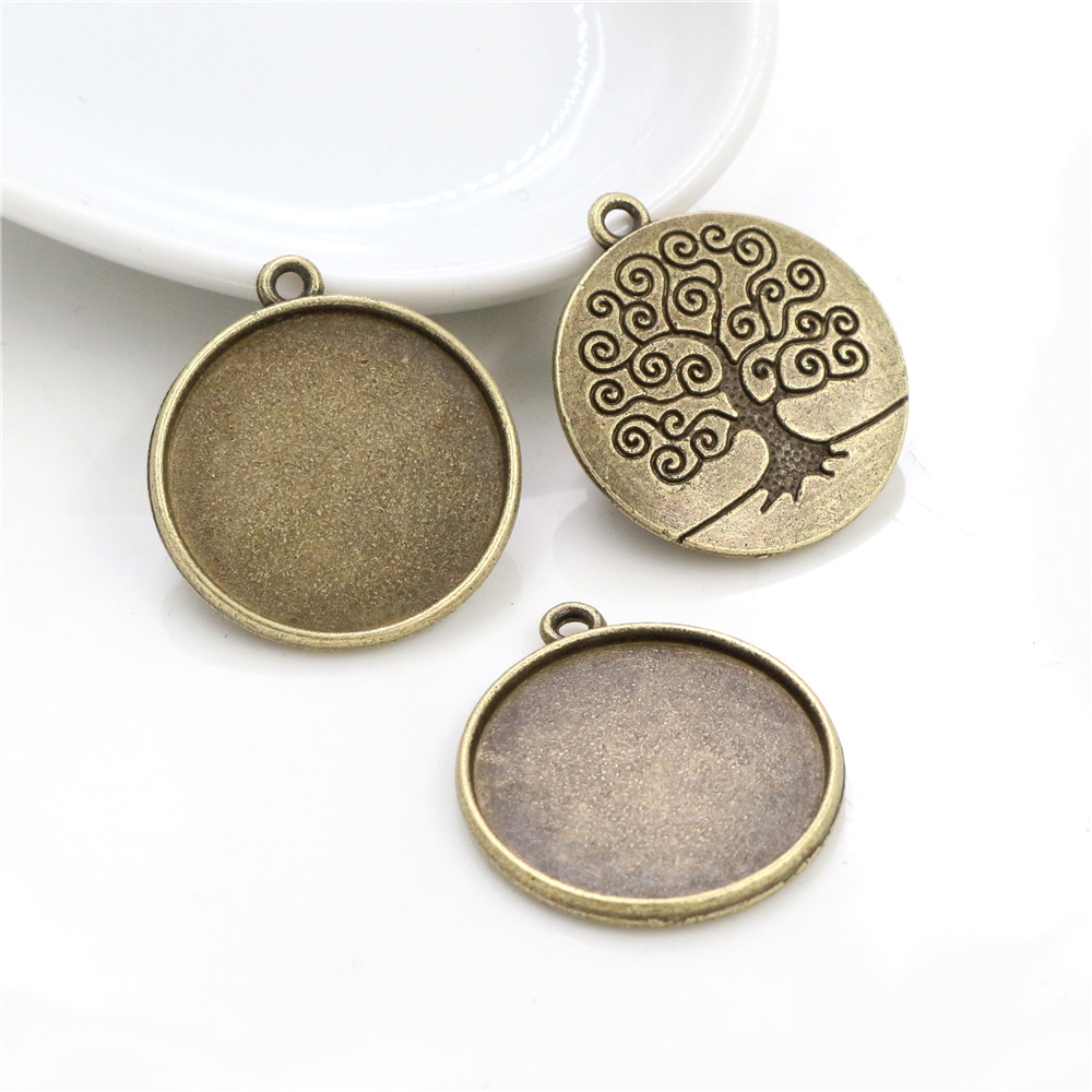10pcs 20mm Inner Size Antique Bronze Classic Style Cabochon Base Setting Charms Pendant (D3-54)