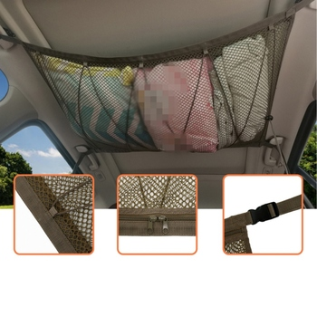 90 * 65cm Polyester Car Roof Top Rack Bag Cargo Carrier Polyester Luggage Storage Outdoor Travel Van for Cars image