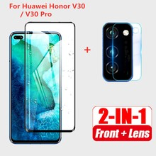 2-In-1 Camera Glas Voor Huawei Honor View30 Pro Camera Lens Film Gehard Glas Op Honor V30 view 30 30Pro View30Pro V30 V30Pro(China)