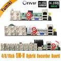 5/6 en 1 4CH/8CH/16CH 5M-N/4M-N AHD DVR vigilancia de seguridad CCTV grabador 1080N híbrido DVR placa para analógica AHD CVI TVI IP