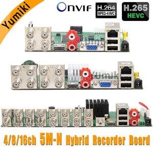 Image 1 - 5/6 en 1, carte de vidéosurveillance hybride 1080N pour IP AHD CVI TVI, 4CH/8CH/16CH 5M N/4M N