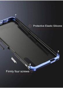 Image 5 - Luksusowe, odporne na wstrząsy pancerz metalowa obudowa Case dla Huawei Honor 9X 9X PRO guma pełna ochronna powrót Coque dla Huawei honor 9x 9x pro