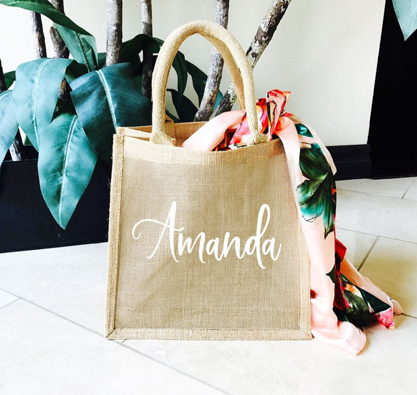 Canvas Tote Bridesmaid Proposal Gift Tote Bachelorette Party Favors Monogram Tote for Bridesmaids Personalized Bridesmaid Tote Bag