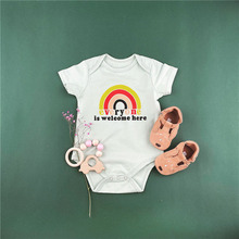Cotton New Born Baby Rompers Rainbow Pattern Romper