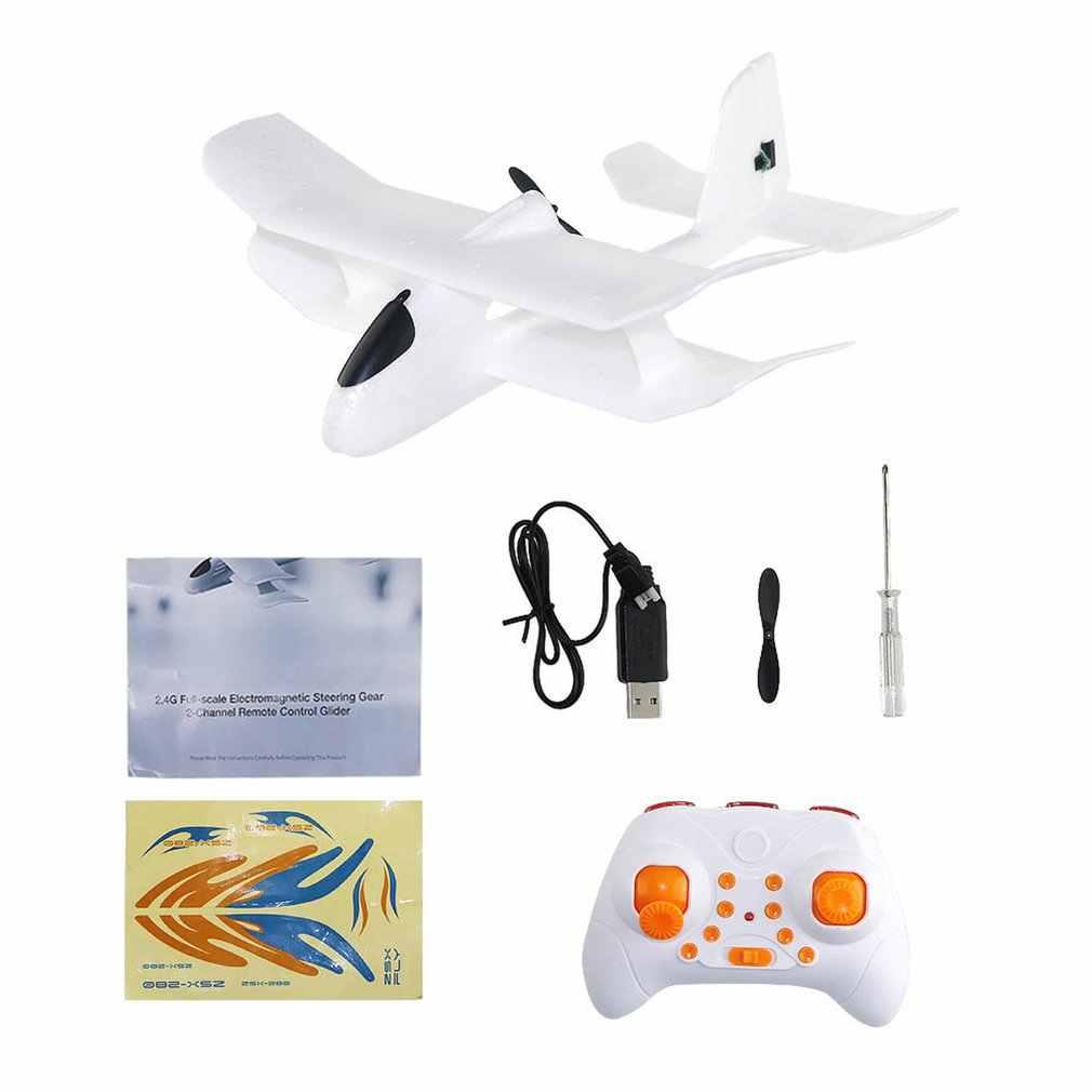 Chaud 2.4GHz 280mm envergure EPP pleine échelle Servo électromagnétique intérieur biplan planeur RC avion RTF ZSX-280