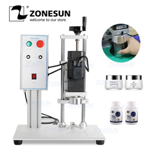 Zonesun Semi Automatische Fles Cap Schroef Capping Machine Fles Capper Sealer Elektrische Capping Tool Cola Frisdrank Fles Chuck