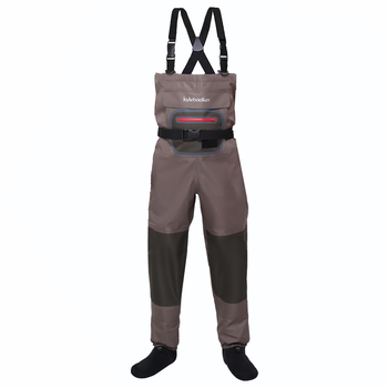 Brown Breathable Lightweight Fly Fishing Chest Waders Stocking Foot Wader for Men Women high jump camouflage fishing waders 0 7mm pvc breathable waterproof chest fishing wader unisex dichotomanthes end fishing waders
