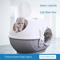 Top in cat litter Basin Totally closed Large anti splash and deodorizing Cat Toilet Pet cat products cat litter box Pet Supplies