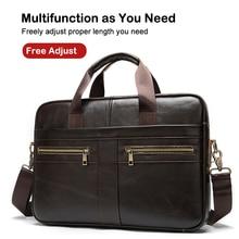 XDBOLO Leather Briefcase Business Handbag Genuine Leather Me