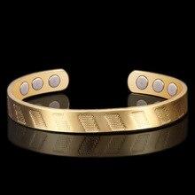 2019 Hot Sale Limited Bracelets & Bangles Pulseiras Feminina Bangle 18k Open Bracelet Gold-plated Health In Europe And America hot sale natural diamond emerald bracelet bangle in solid 18k white gold bracelet oval 4x6mm na0035