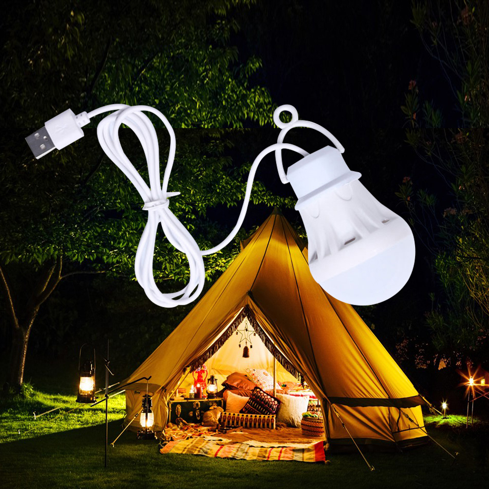 LED Lantern Portable Camping Lamp Mini Bulb 5V LED USB Power Book Light 6pcs - LED Reading Student Study Table Lamp Super Birght