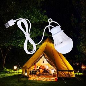 LED Lantern Portable Camping Lamp Mini Bulb 5V LED USB Power Book Light 6pcs - LED Reading Student Study Table Lamp Super Birght(China)