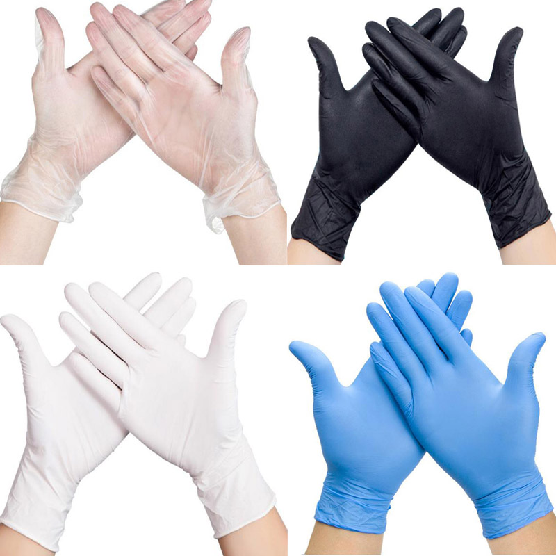 100 Pcs Disposable Latex Medical Gloves Anti-virus Universal Cleaning Work Finger Gloves Latex Protective Home For Safety  LS001
