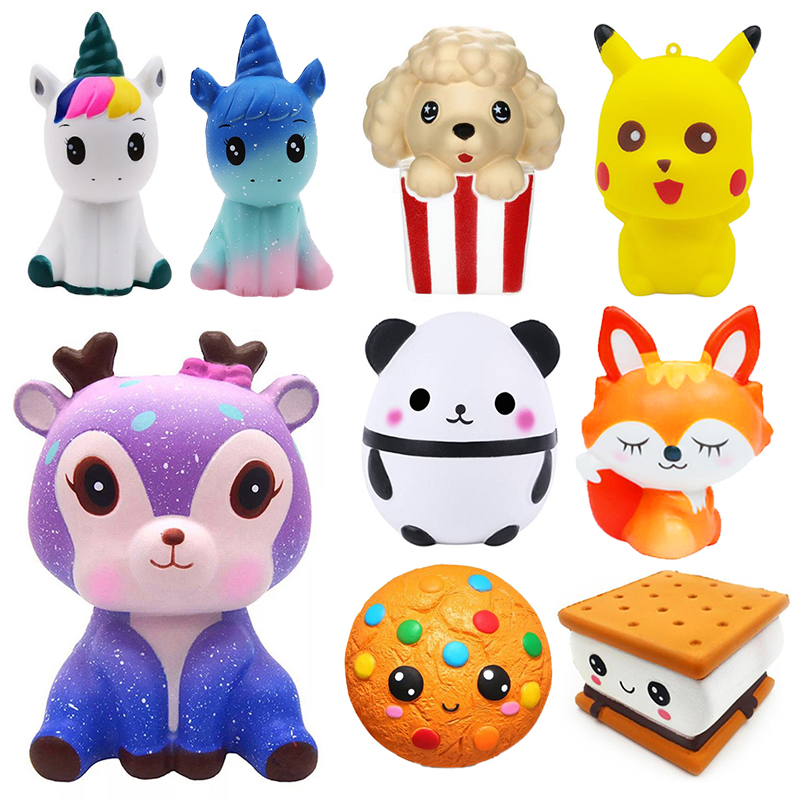 Jumbo Kawaii Popcorn Unicorn Cake Squishy Donut Fruit Squishi Slow Rising Stress Relief Squeeze Toys for Baby Kids Charisma Gift
