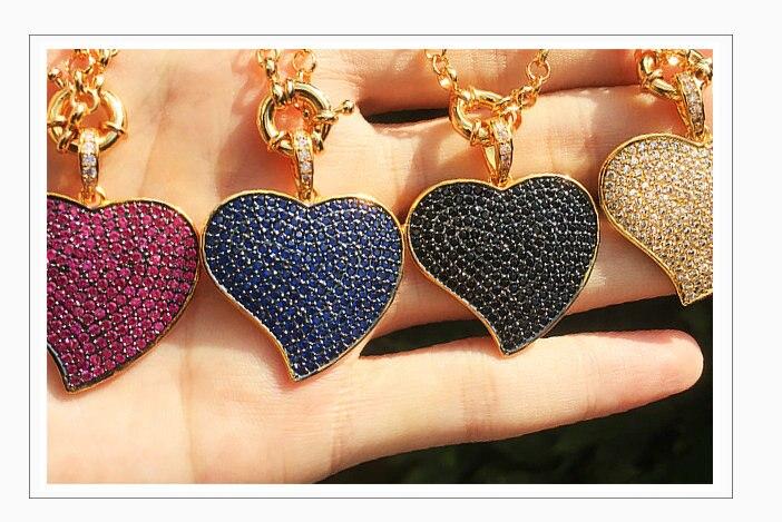 coração do vintage pingente colares única senhora jóias acessório