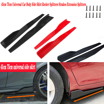 2X 45CM For Suzuki Swift Bmw F10 X5 E70 E30 F20 E92 E91 M Volvo XC90 S60 V40 S80 Car Door Side Skirt Bumper Diffuser Spoiler image