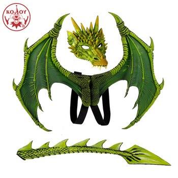2019 nuevo Disfraz De alas De Dinosaurio máscaras De dragón máscara Disfraz De Dinosaurio Disfraz De halloween para niños Dragón Volador cosplay