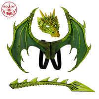 2019 nuevo Disfraz De alas De Dinosaurio máscara De dragón Disfraz De Dinosaurio Disfraz De halloween para niños cosplay De Dragón Volador