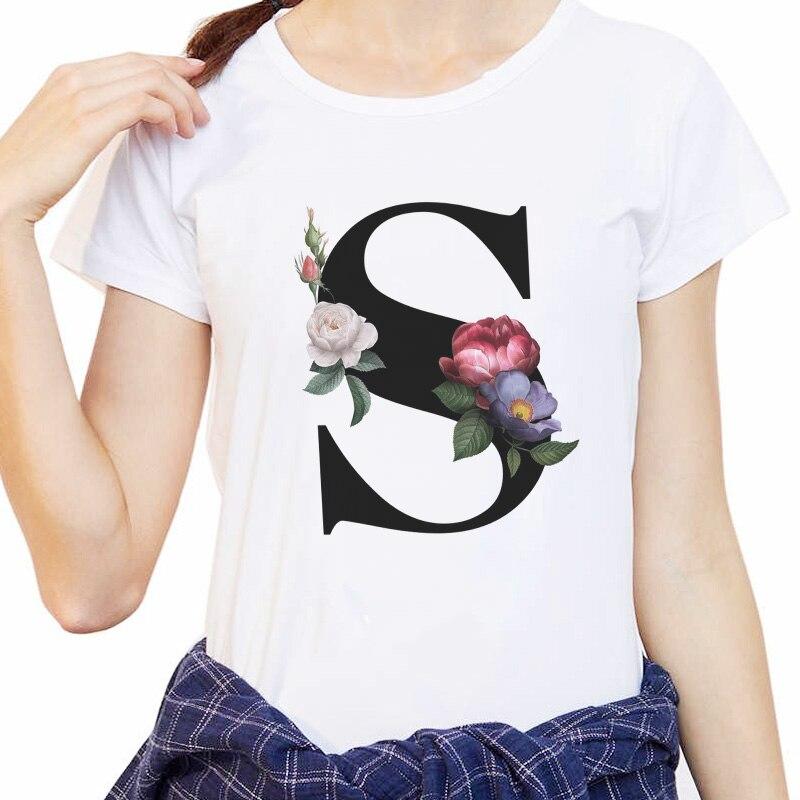 LV CK 26 English Alphabet Print Tshirt Harajuku Casual White Tops T Shirt Women 2020 New Summer Couples Lovers Female T-Shirt