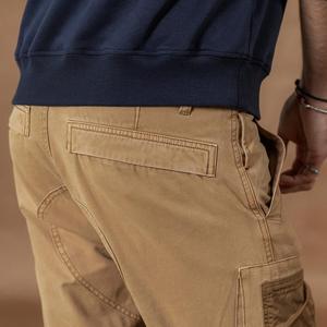 Image 4 - Мужские брюки карго SIMWOOD, тактические брюки с множеством карманов, уличные штаны плюс сайз в стиле хип хоп с накладками контрастного цвета, 2019