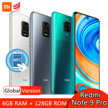 Xiaomi Redmi Note 9 Pro 6GB 128GB Global Version Smartphone Snapdragon 720G Octa Core 64MP Quad Camera 6.67