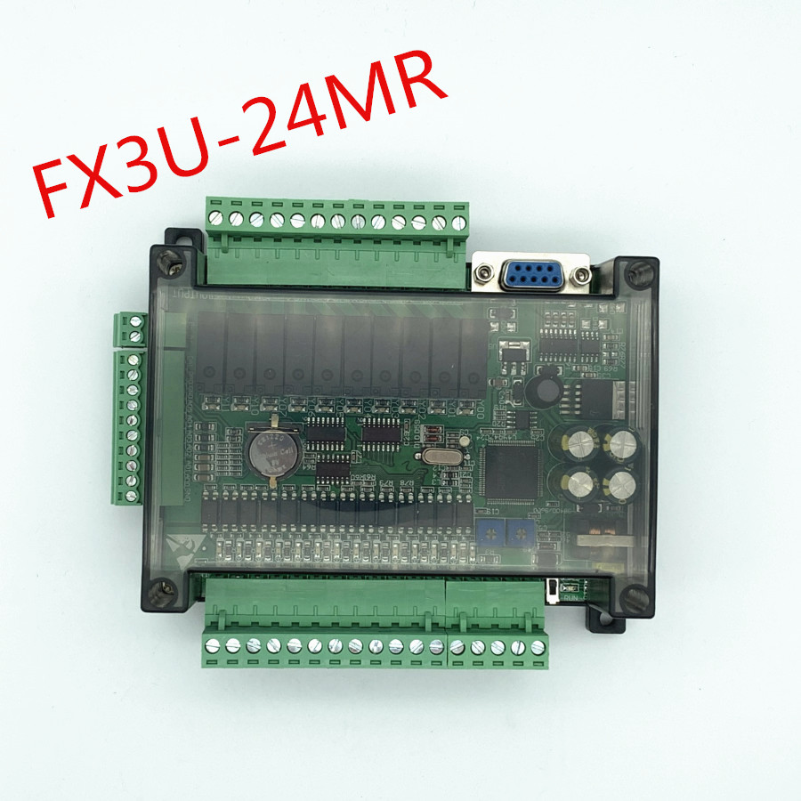 FX3U 24MR high speed domestic PLC industrial control board with case with 485 communicationCable Winder